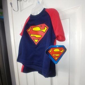 SUPERMAN BOYS SIZE 12M 2 PIECE SHORT SET